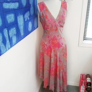 Chris McLaughlin Asymmetrical Floral Dress
